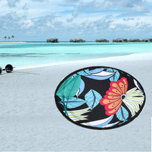 Redondo beach towel borla franja de playa tiro redondo estera mantel tapices de pared