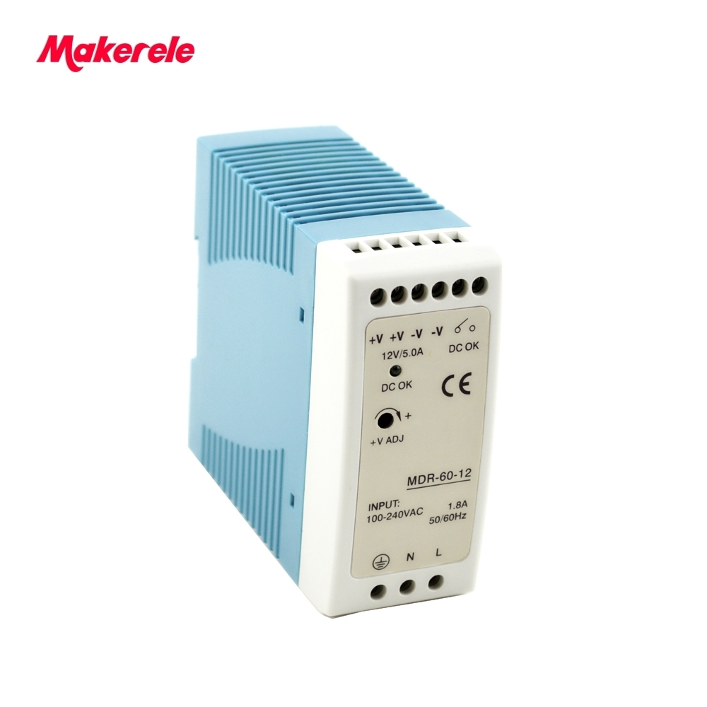 60w Mini size Din Rail Single Output Switching power supply AC 110 / 220V to DC 5V 12V 15V 24V 48V ac-dc for led driver q 60d four output dc power supply 60w 5v 12v 24v 12v ac dc smps power supply for led driver ac 110v 220v transformer to dc