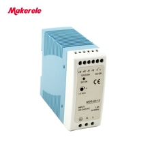 цены 60w Mini size Din Rail Single Output Switching power supply AC 110 / 220V to DC 5V 12V 15V 24V 48V ac-dc for led driver