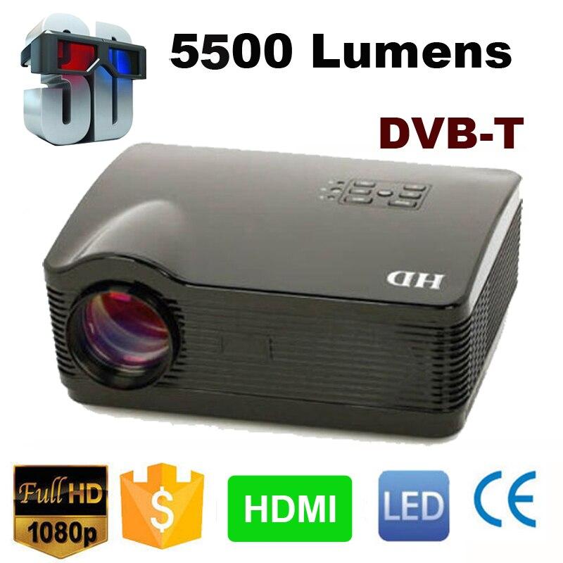 Película de cine en casa Multimedia HD proyector portátil HDMI 5500 lúmenes 1280