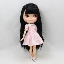 ICY Neo Blythe Puppe Schwarzes Haar Azone Jointed Körper 30cm