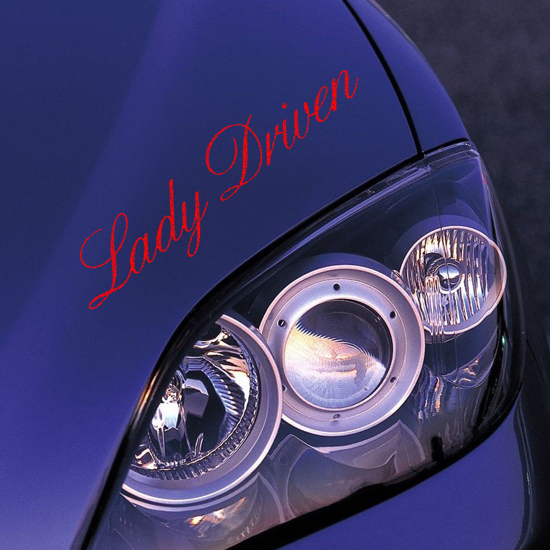 HotMeiNi Car Sticker Jdm styling Window Bumper Decal Vinyl Road Fridge Waterproof lady Driven Text 23*5.4cm