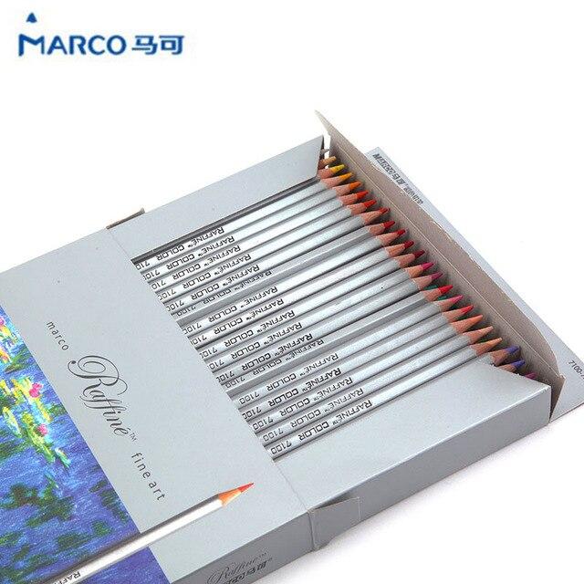 Марко raffiné изобразительное искусство цветные карандаши 72 цветов заимствования эскизы Mitsubishi карандаш школьные принадлежности секрет авангард карандаш
