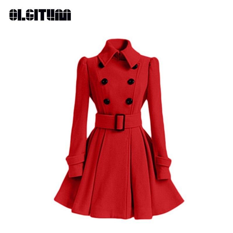 8502476d0b Nova Moda Inverno 2018 Casaco De Lã Das Mulheres Tipo de Saia Uma Linha De  Lã Feminino Jaqueta de Inverno Casaco Feminino WC105