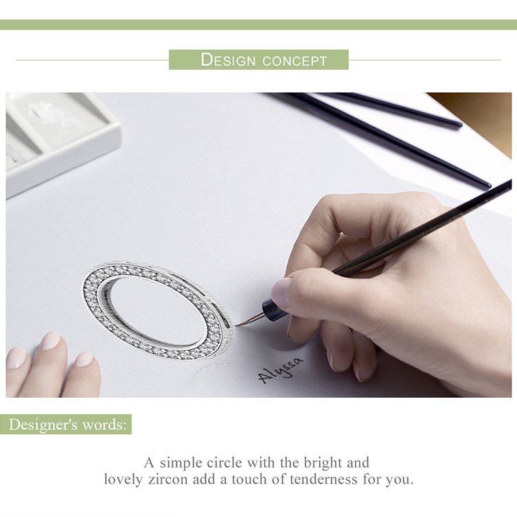 HTB1KmnmbjnuK1RkSmFPq6AuzFXaR BAMOER Hot Sale Authentic 925 Sterling Silver Clear Zircon Round Circle Beads Charm fit Women Bracelets DIY Jewelry SCX101