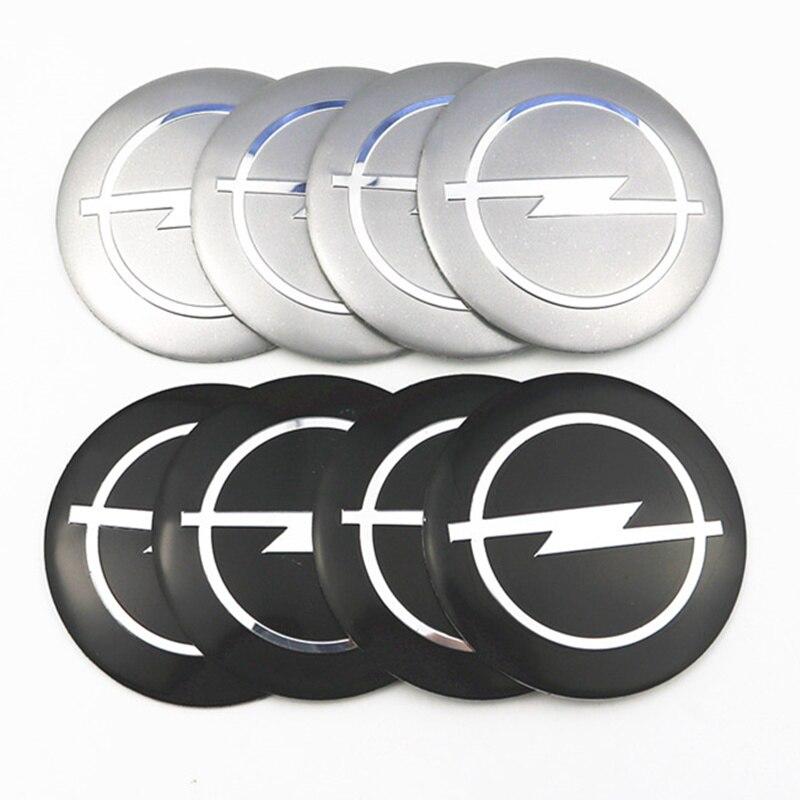 Car Styling 4Pcs Wheel Center Hub Cap Stickers 56.5mm Emblems For Opel Astra Opel Astra H Astra G Insignia Opel Mokka Car