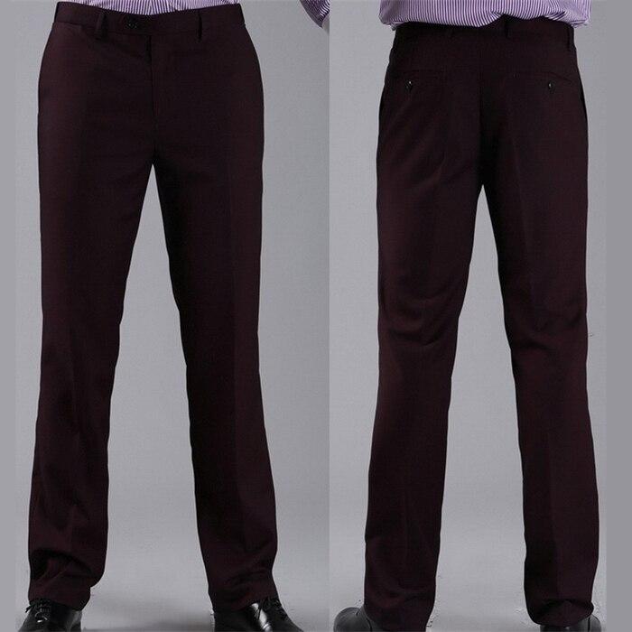 Мужские костюмные брюки модные свадебные формальные 12 цветов повседневные брюки известный бренд блейзер брюки Деловое платье брюки CBJ-H0284 - Цвет: slim dark purple
