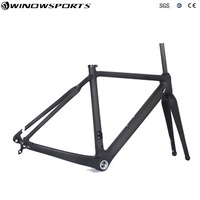 2018 Carbon Cyclocross Bike Frame carbon CX Flat Mount disc Bicycle Frame Cyclocross Disc Frame With Thru Axle142*12 Gravel bike