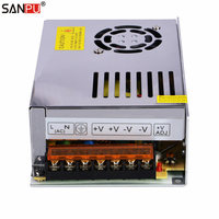 SANPU SMPS 24V DC Switching Power Supply 250W 10A Constant Voltage Single Output AC/DC Transformer Driver No Fan for LEDs