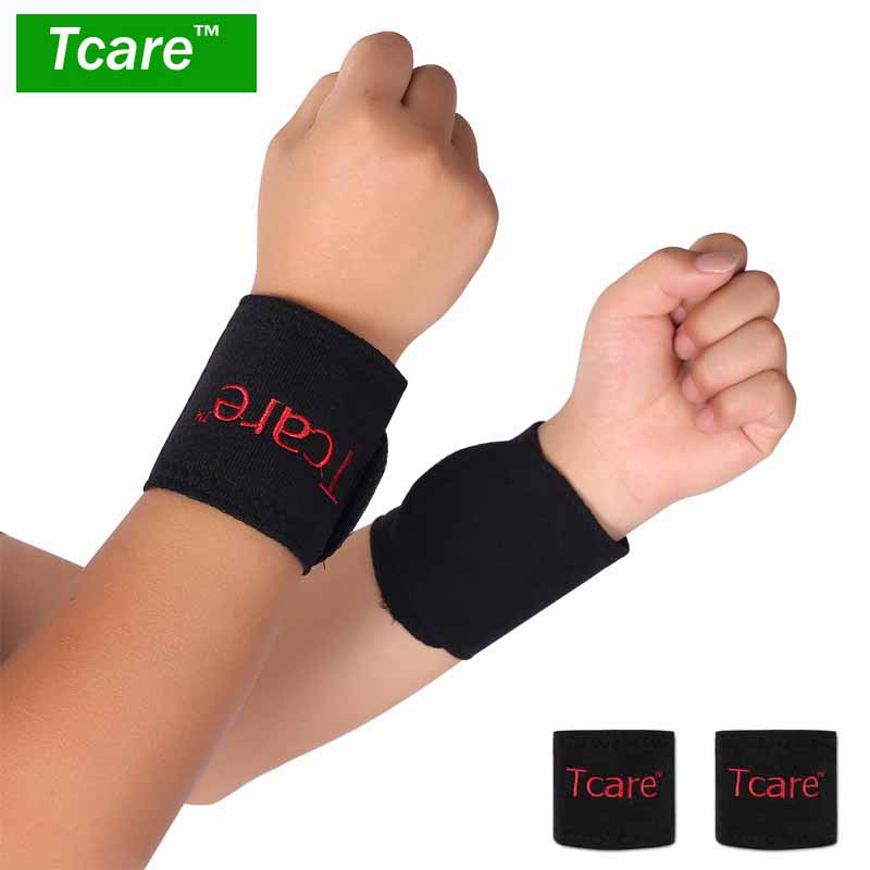 1 Pair Magnetic Massage Therapy Tourmaline Wrist Brace Protection Belt Spontaneous Heating Massager цена