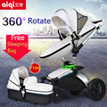 2017 Limited Poussette Baby Aiqi New Luxury Baby Stroller 2 In 1 High Landscape Infant With Carriage Prams European Strollers
