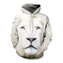 Headbook Animals Print Fashion Brand Hoodies Men Women 3d Sweatshirt Hooded Hoodies Cap And Pockets Hoody