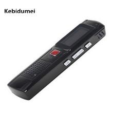 Kebidumei 2017 صغيرة محمولة 8 جيجابايت المخفية مسجل صوت رقمي جهاز تسجيل مع شاشة الكريستال السائل أسود