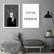 Modern Black and White Abstract Figure Canvas Paintings Printing Poster Wall Art Pictures for Bedrooms Home Decoration(China)