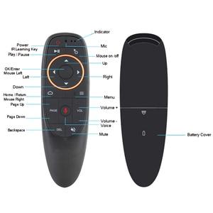 Image 2 - G10 2.4G صوت ماوس هوائي 6 محور جيروسكوب يطير ماوس إضافة IR وظيفة التعلم العمل مع صندوق أندرويد TV PK Wechip W1 ل X96 mini