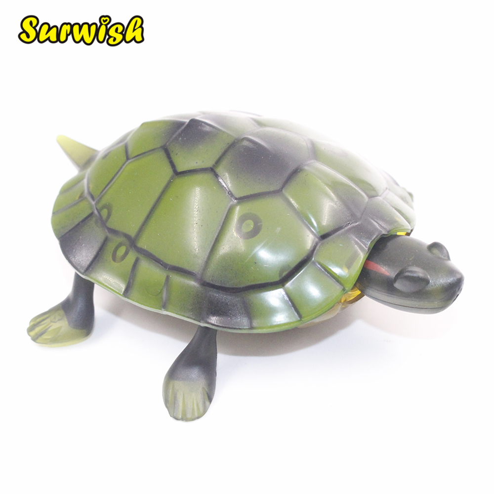 1Pcs Infrared Remote Control Tortoise Simulation Animal Prank RC Tortoise Toy with Glowing Eyes