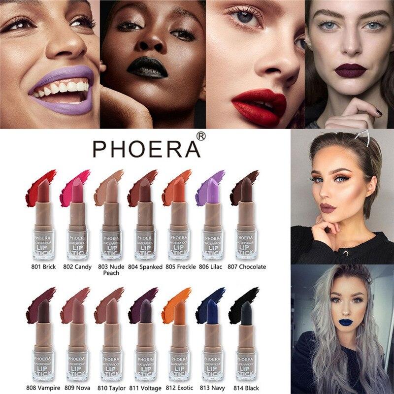 Schönheitsprodukte Humorvoll Phoera Lippenstift Matt Wasserdicht Langlebige Lip Kosmetische Stereoskopischen Make-up Lippenstift Dropship Dec25 Taille Und Sehnen StäRken