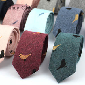 Ties Cravat Neckwear Skinny-Tie Printed Cotton Party Casual Fashion Men for Narrow