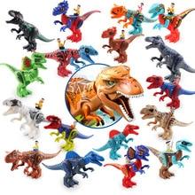Jurassic Dinosaurs World Baby Music Figures Building Tyrannosaurus Blocks Kids Toy B516