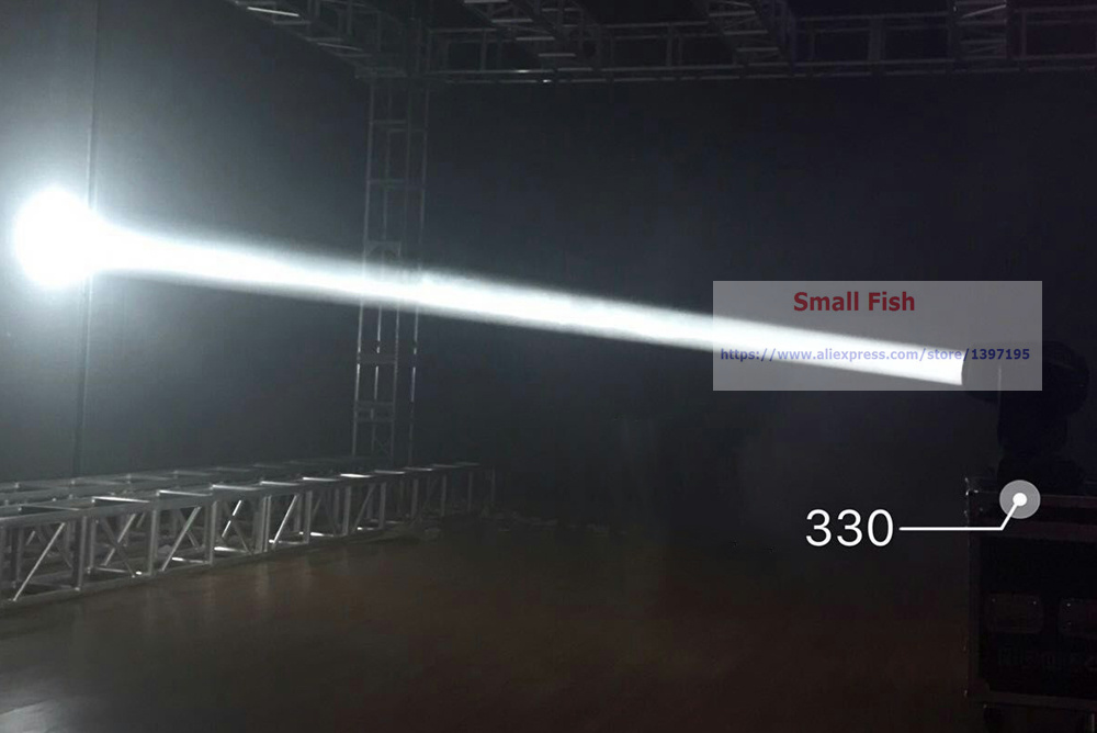 Купить с кэшбэком Hot Sale Professional 330W Moving Head Light DMX DJ Disco Party Wedding Stage Effect Lights With 1 Color Wheel and 2 Gobo Wheels