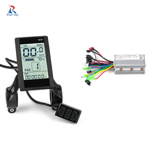 Electric Bicycle Controller Waterproof LCD Display With USB Charger Brushless Electric Bike E-bike Controller 24V36V48V 350W