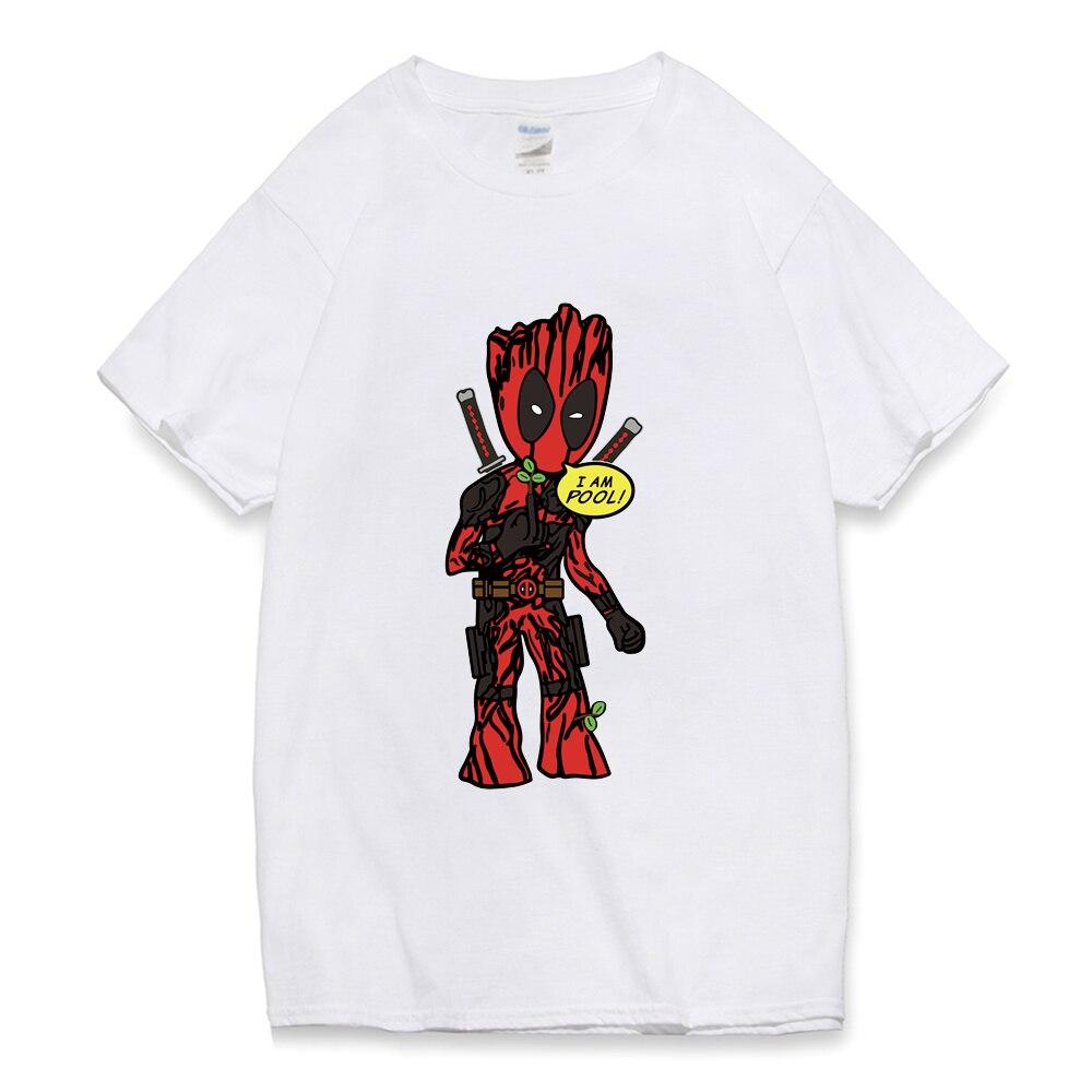 groot i am pool T Shirt Man summer 2019 men deadpool t-shirt funny short sleeve o-neck Top Tee Homme Tshirt loose fit camisetas