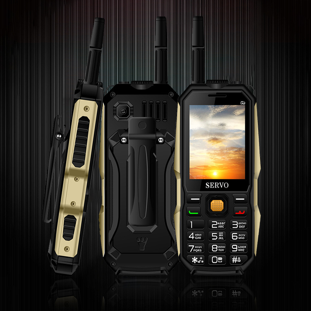 """Original Telefon SERVO P20 2,4 """"Quad Band 3 SIM Karte Handy GPRS TV Stimme Ändern Laser Taschenlampe Power Bank russische tastatur"""