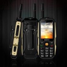 "Teléfono Original SERVO P20 2,4 ""Quad Banda 3 Tarjeta SIM teléfono móvil GPRS TV cambiando la voz linterna láser Banco de la energía teclado ruso"