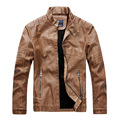 New Arrival Men's Slim Fit warm leather coat high quality PU motorcycle leather jacket Men brand Business Casual Leather Jackets