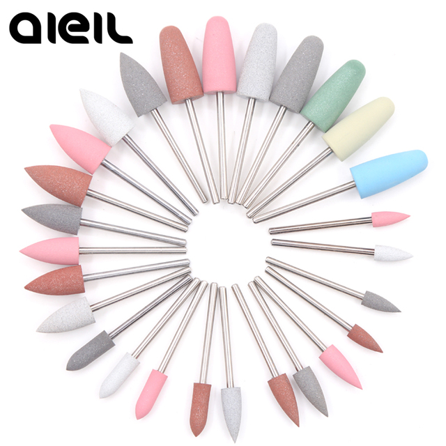 Rubber Silicon Carbide Buffer Nail Drill Bits Cutter For Manicure Pedicure Manicure Machine Electric Milling Cutter For Manicure
