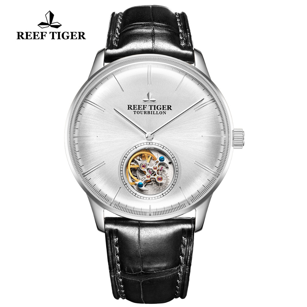 Reef Tiger/RT Tourbillon Automatic Watch Men Brand Mechanical Watch Waterproof Leather Strap Business Watches RGA1930Reef Tiger/RT Tourbillon Automatic Watch Men Brand Mechanical Watch Waterproof Leather Strap Business Watches RGA1930