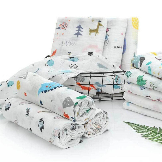 2-Layered Organic Cotton Blanket For A Newborn Baby For All (0-3 years) Nursery Shop by Age Swaddle Blankets