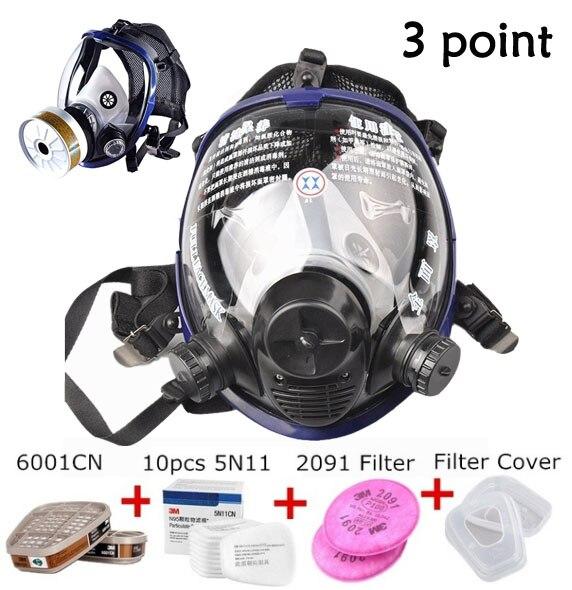 Tamanho grande Rosto Cheio 6800 Máscara de Gás Máscara Facial Respirador Pintura de Pulverização para a pintura De Laboratório químico máscara De Segurança médica