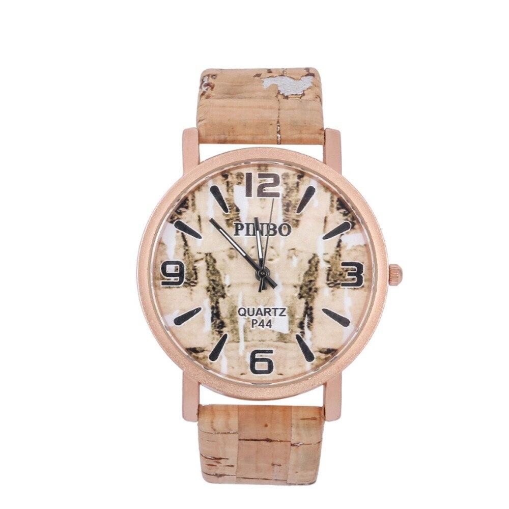 Wooden Wristwatch Personality Quartz Circular Relogio Masculino Fashion Kol Erkek Grain