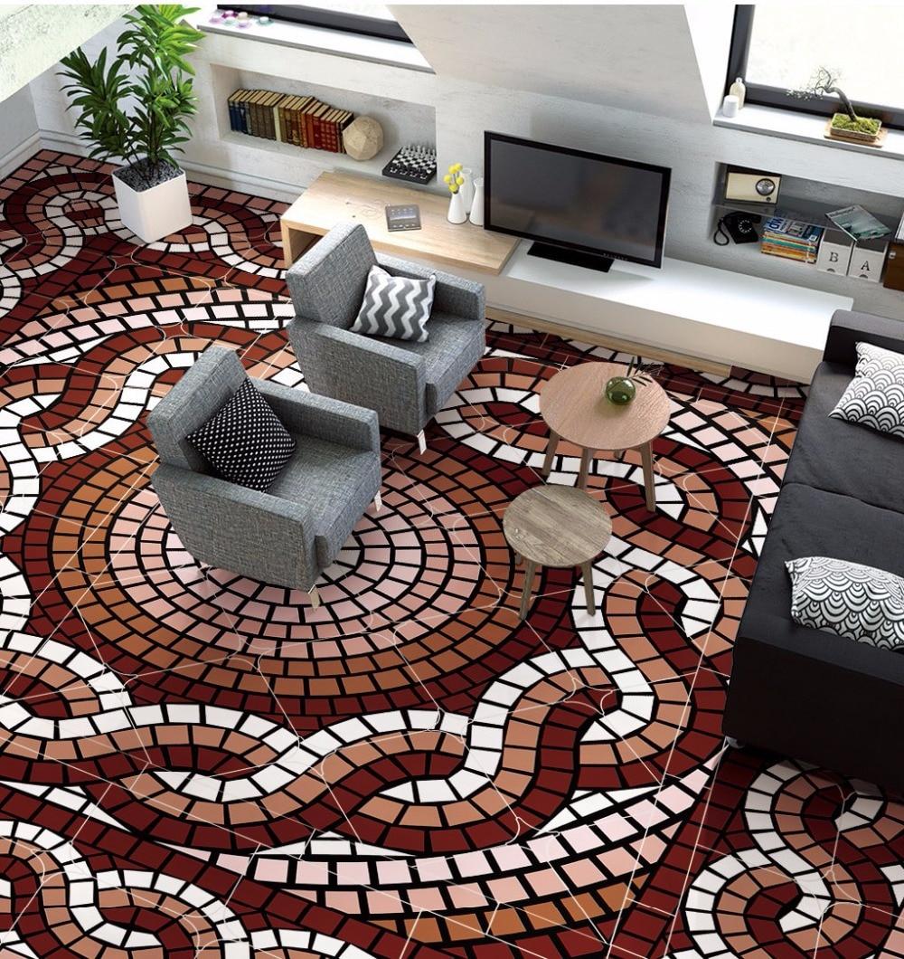 Free Shipping custom 3D Nordic simplicity fashion geometric pattern flooring wallpaper conference room self-adhesion floor mural ширма simplicity fashion