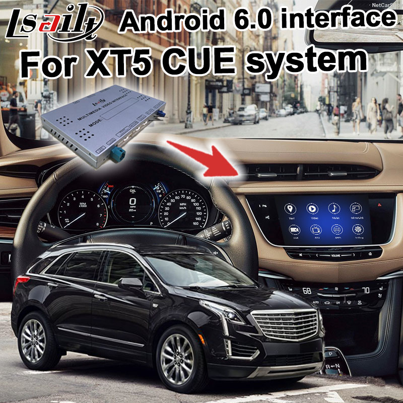 US $550 0 |Android navigation box for Cadillac XT5 etc Intellink Mylink CUE  system video interface with Carplay GPS-in Vehicle GPS from Automobiles &