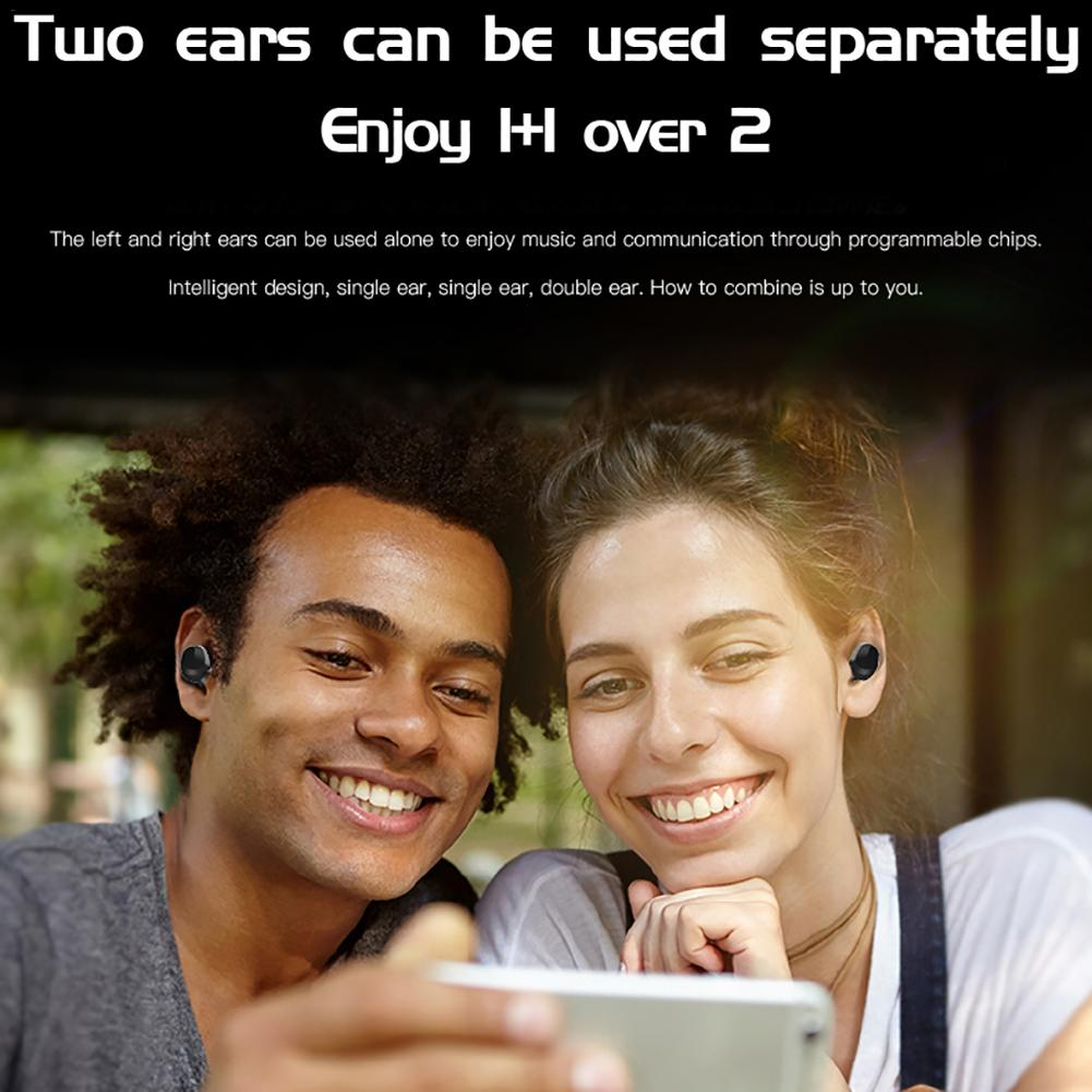 H3 TWS Wireless Bluetooth 5 0 Earphone Waterproof Binaural Call Headset Stereo HIFI Noise Reduction Wireless Sports Earphones in Bluetooth Earphones Headphones from Consumer Electronics