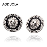 Cute Stud Earrings Silver Plated Pearl Rhinestones lion Earring lovely earring for women jewelry gift and wedding Accessories