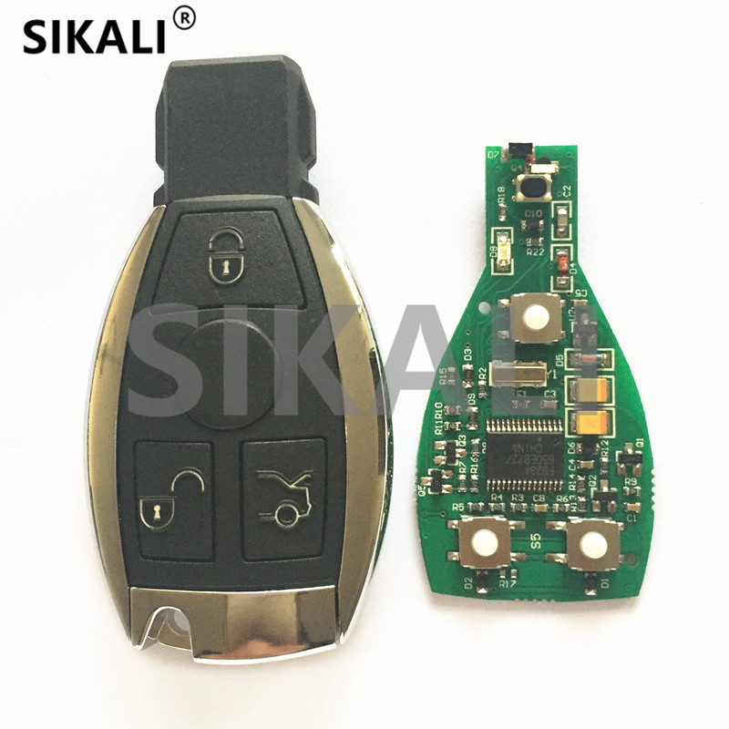 SIKALI Smart Remote Key For Mercedes Benz Year 2000+ Supports Original NEC And BGA 315MHz Or 433.92MHz 3 Buttons(China)