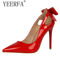 Brand Women S Shoes Sweet Big Bow High Heels Women Pumps Stiletto Thin Heel Pointed Toe