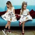 Kids Party Girls Flor de la Boda de dama de Honor Formal Del Desfile de Baile Vestido de Bautizo