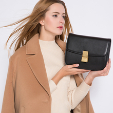 High Quality Genuine Leather Small Ladies Messenger Bags Solid Shoulder Bags Girl Crossbody Bags For Women Brand Women Handbags