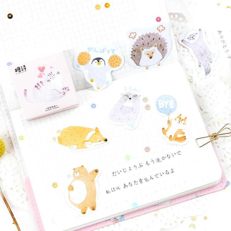 (1 Pack/verkaufen) Liebe Tiere Memo Pad Tagebuch Aufkleber Pack Geschrieben Es Kawaii Planer Scrapbooking Schreibwaren Escolar Schule Liefert