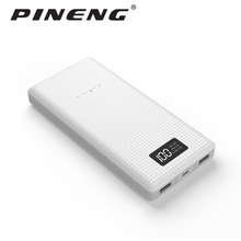 PN-969 Pineng Power Bank 20000mAh LED External Battery Portable Mobile Fast Charger Dual USB Powerbank for iPhone Samsung Xiaomi