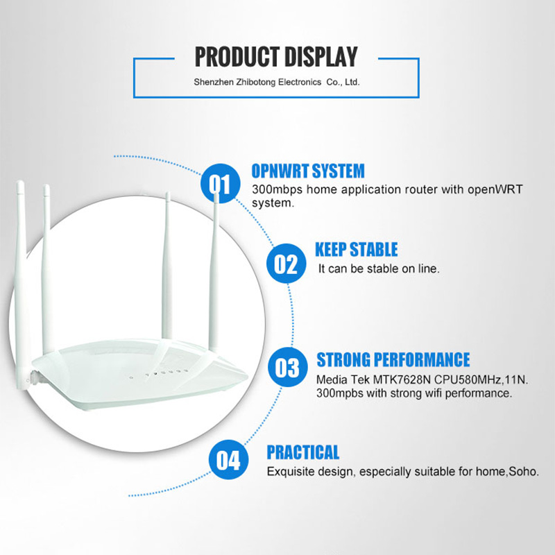 Image 4 - Cioswi wifi router wireless repeater with External antenna high speed rj45 300mbps wlan router wi fi access point mobile hotspot-in Wireless Routers from Computer & Office