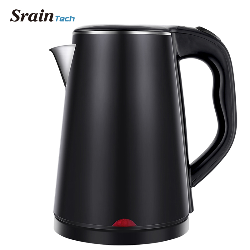 SrainTech 1500W Stainless Steel Electric Kettle with Nice Design 1.8L #304 Food Grade Kitchen Kettles Heating Water in 5 Minutes