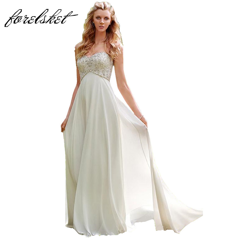 Sexy chiffon a line beach wedding dresses vintage boho for Affordable boho wedding dresses