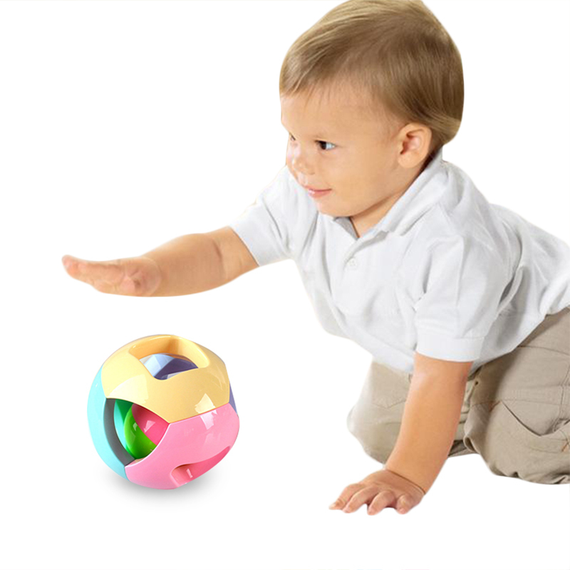 New Environmental ABS Colorful Puzzle Bells Baby Hand Rattles Kid Toy