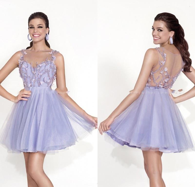 Light Dresses Damas Salient Junior Graduation: 2015 Lovely Puffy Short Prom Dresses For Teens Light
