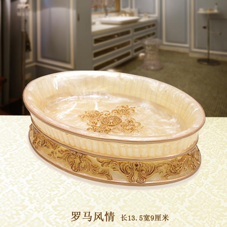 Luxury resin soap dish soap plate bathroom soap tray accessary